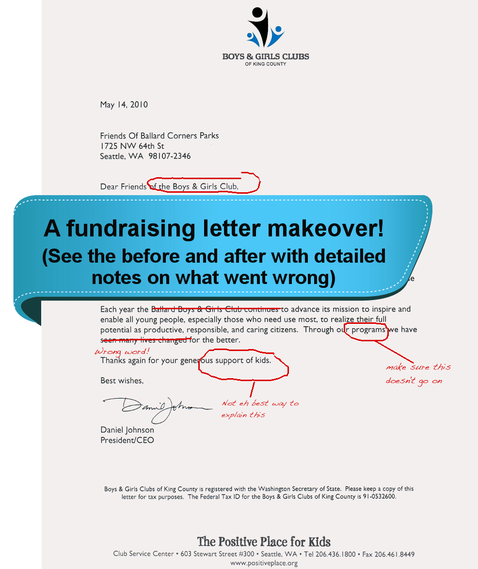 How to write the perfect fundraising letter sumac non profit software fundraising letter makeover spiritdancerdesigns Image collections