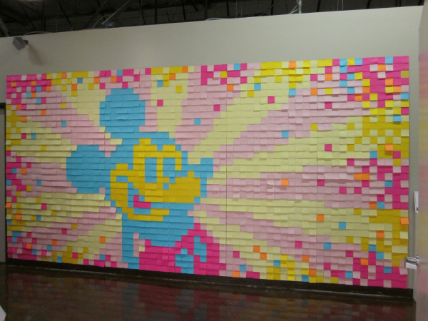 Mosaic Mickey Mouse Sticky Notes