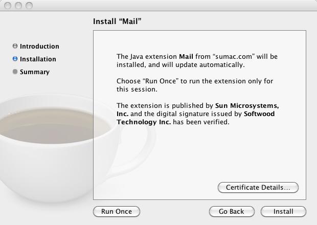 Install Java 2 Install Sumac