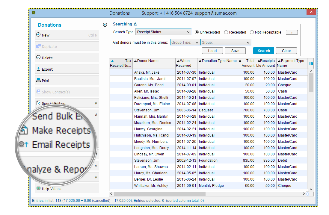 Process year end receipts in just a few clicks!
