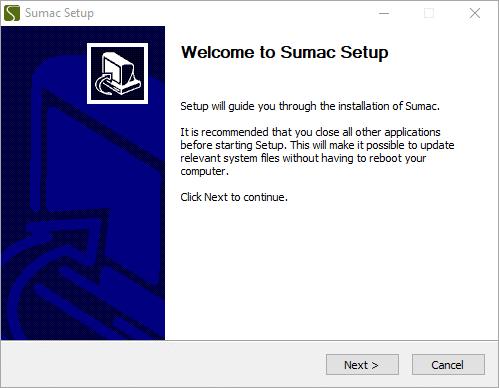 Install Sumac - Sumac Non-profit Software